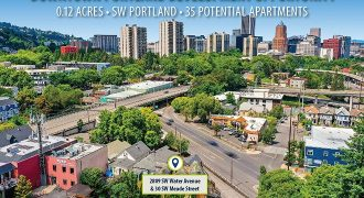 Land for 35 potential apartment units in downtown Portland, Oregon