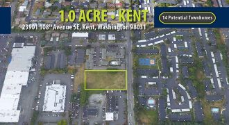 1.0 Acres of Land in Kent, WA   Land for Potential 14 Townhomes   $1.307 Million