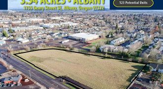 3.54 Acres in Albany, OR   120 Potential Units   $2.12 Million