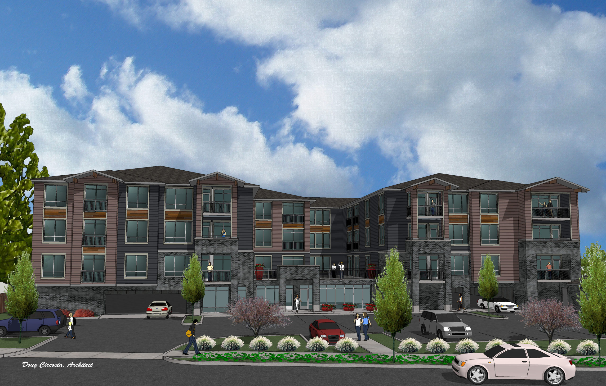 Permitted – 49 unit Mixed Use project in Fairview Oregon on NE Sandy Blvd – $1,500,000 – Ready to go NOW for delivery in 2022.