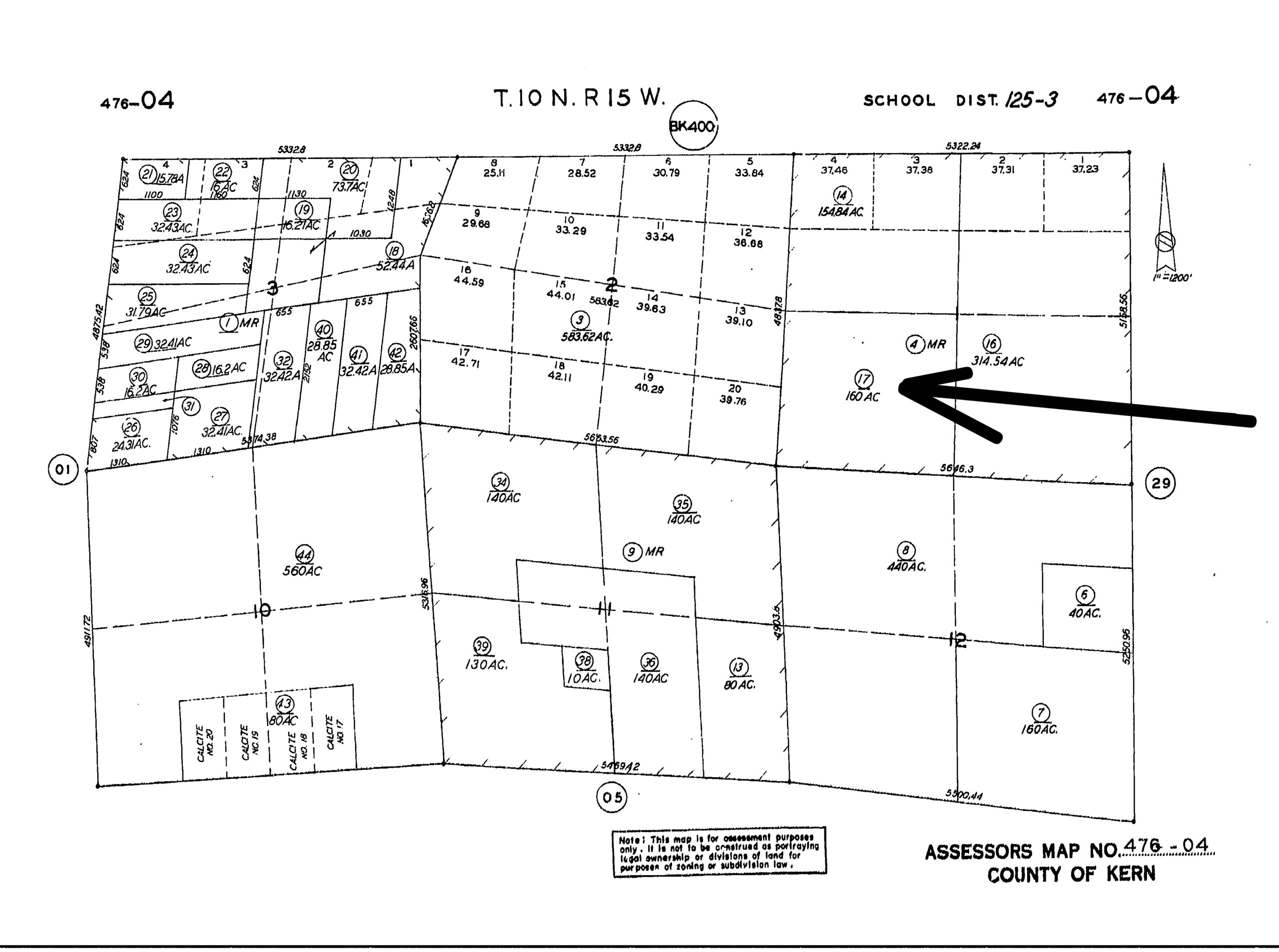 160 acre property located in the Tehachapi Wind Resource area.